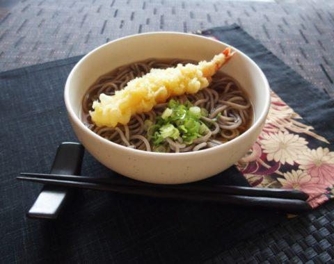 Tempura soba、天ぷら蕎麦