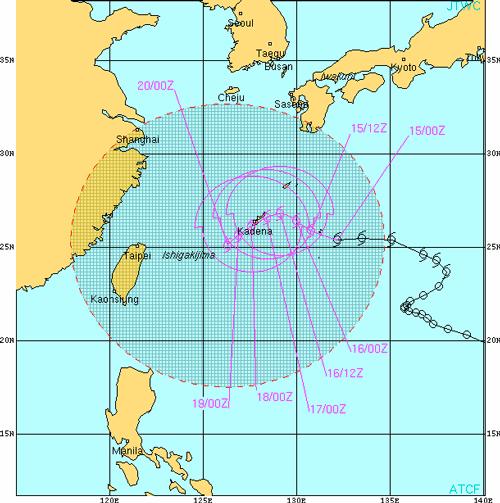 台風15号の進路予想図_0915