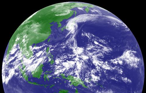 衛星写真9月21日の昼
