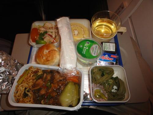マレーシア航空の機内食(2011年11月23日)