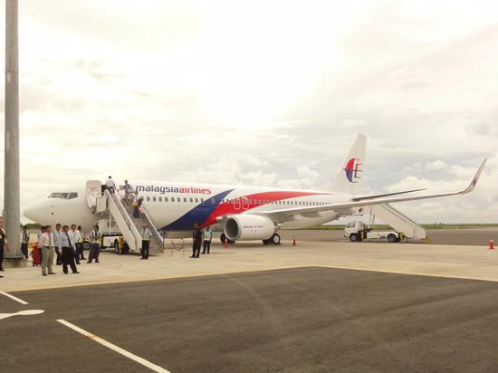 2010年11月、コタキナバル→羽田の初フライト直前の飛行機