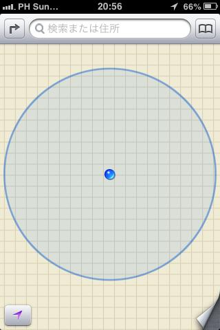 OS標準のMAPアプリの画面