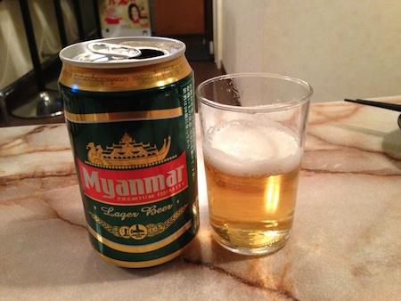 ミャンマーの美味しいビール