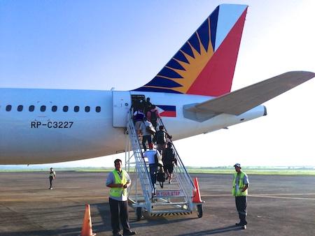 フィリピン航空とエアーピルエクスプレスの共同運行便