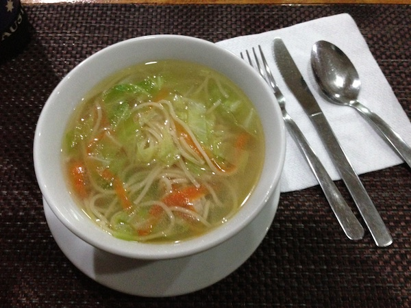 SOGOD BAY SCUBA RESORTの卵麺のスープ