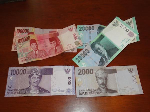 3,000円分のルピア