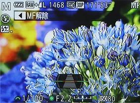 S120の液晶表示