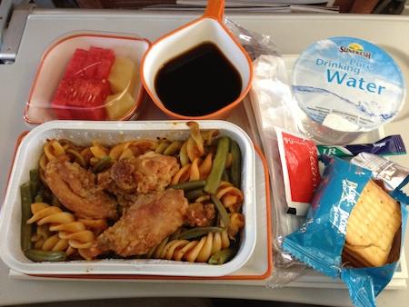 シルクエアーの機内食