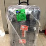 スーツケースをラッピング