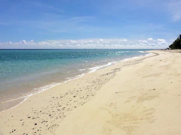 シパダンのビーチ