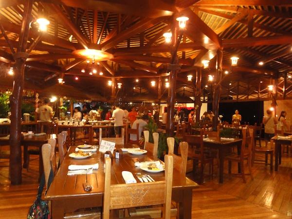 シパダンウォータービレッジの食堂