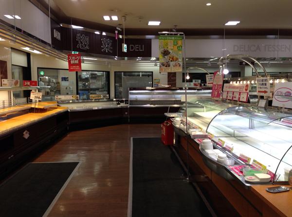 雪の日のイオンの食料品売り場