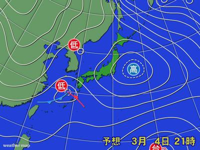Weathermapの天気予想