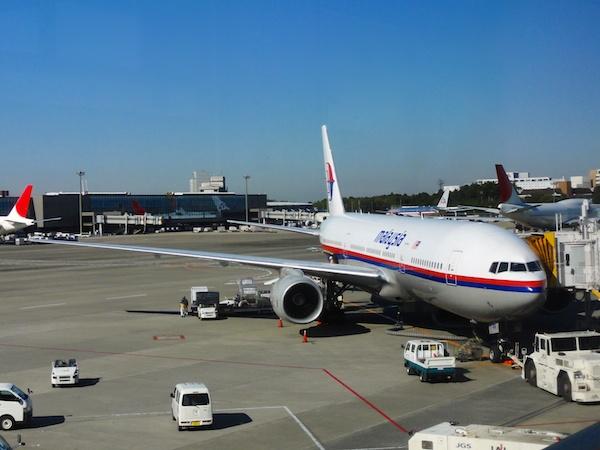 マレーシア航空機の機体