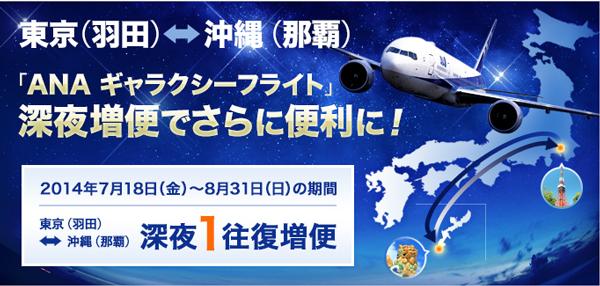 東京(羽田)⇄沖縄(那覇)ANA深夜便のバナー