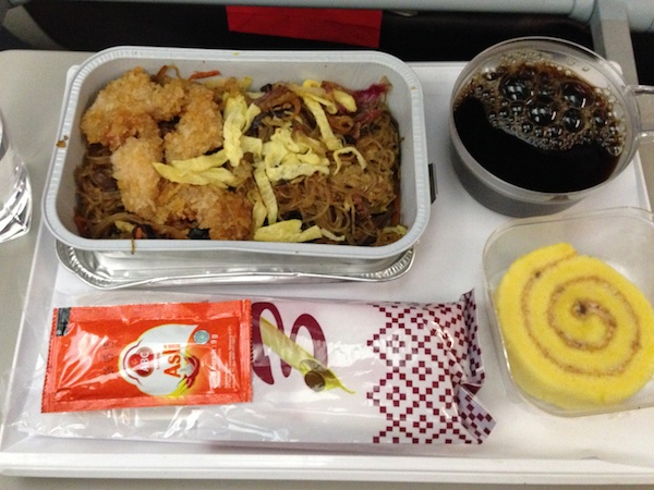 バティク航空の機内食
