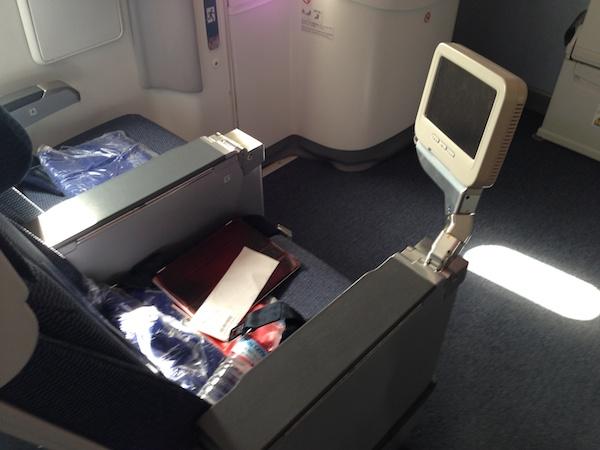 ANA B787の座席(23C)
