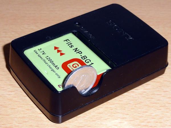 Cybershot HX5Vの充電器とバッテリーパック