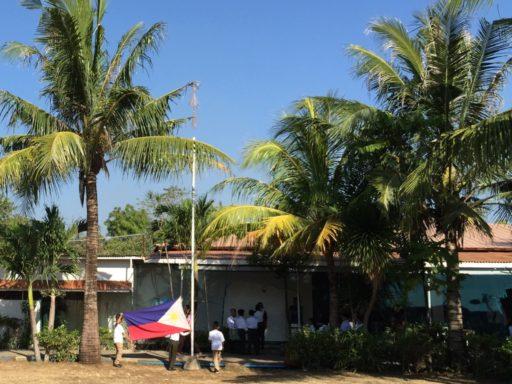BAYSIDE English Cebu RPCの朝の光景