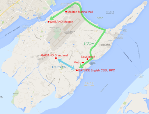 Macon Islandの交通地図