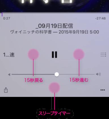 Podcastアプリの隠しボタン