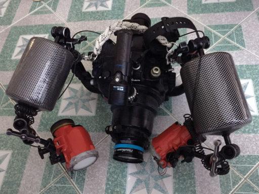 私のD7000水中カメラセット