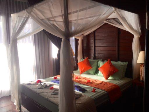 バスティアノスダイブリゾートのベッド