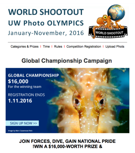 WORLD SHOOTOUT Unerwater Photo Grand Prix