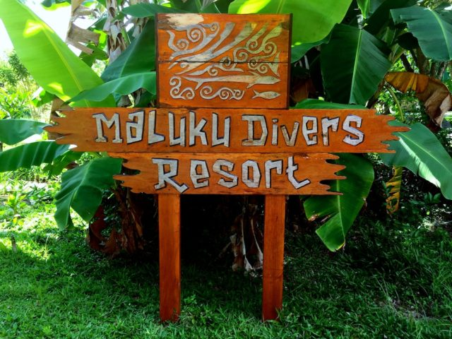 MALUKU DIVERS RESORTの看板