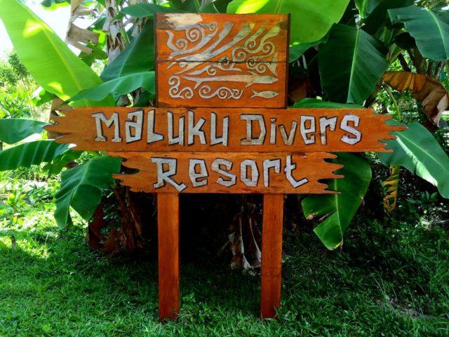 MALUKU DIVERS RESORTの看板