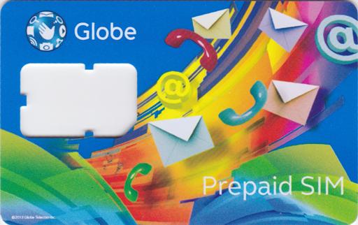 SIMをくり貫いたプリペイドカード