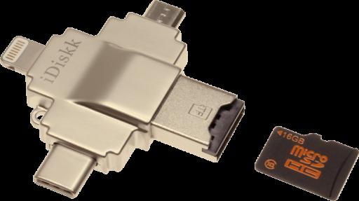 iDiskk-MicroSDカードリーダー