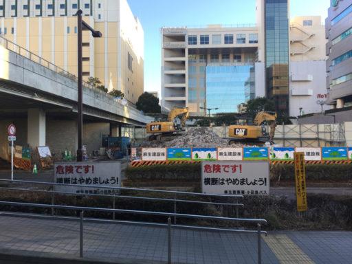 新百合ヶ丘駅駅前の工事現場