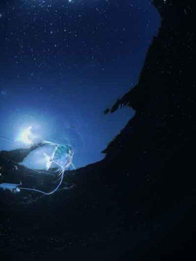 「地球の海フォトコンテスト2017」自由部門3位の「星に願いを」=赤間光洋さん撮影(朝日新聞DIGITALより拝借)