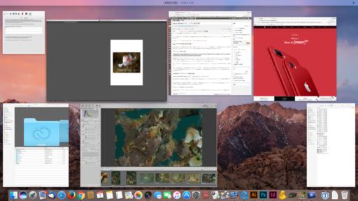 macOSでF3を押した時の画面