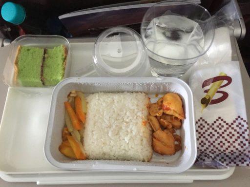 バティック航空(ジャカルタ←マナド)の機内食