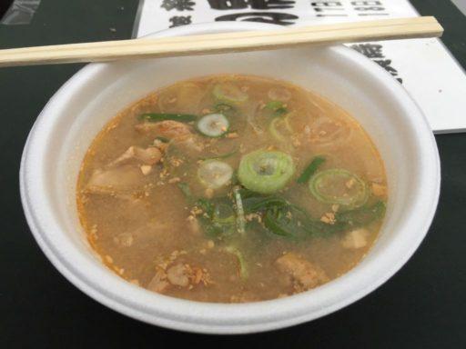 糸魚川フェアのアンコウ汁