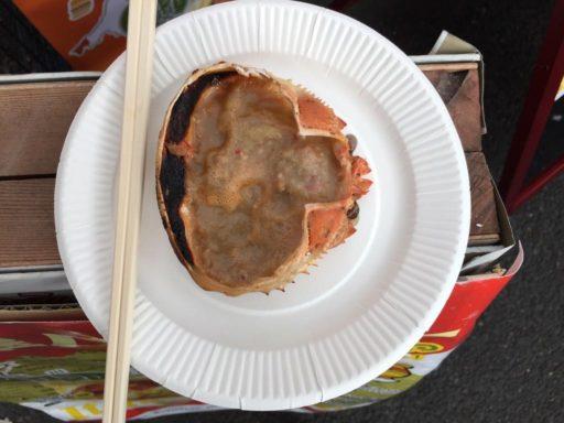 糸魚川フェアの蟹味噌甲羅焼き