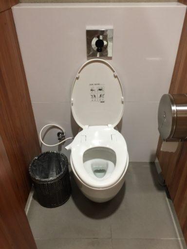 マクタン空港の新ターミナルのシャワートイレ