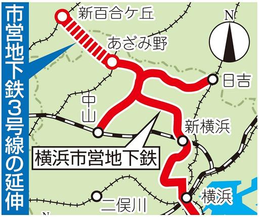 横浜市営地下鉄の延伸計画