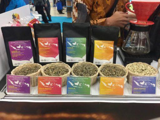マリンダイビングフェアのインドネシアコーヒー