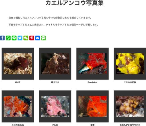 FROGFISH.JPのカエルアンコウ写真集ページ