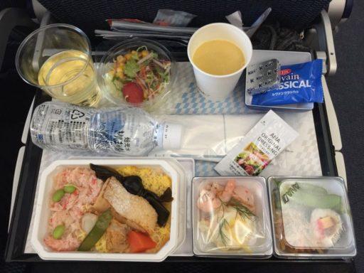 ANAの機内食(羽田→ジャカルタ)