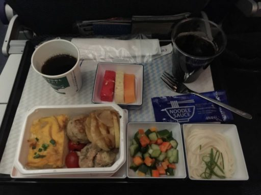ANAの機内食(ジャカルタ→羽田)