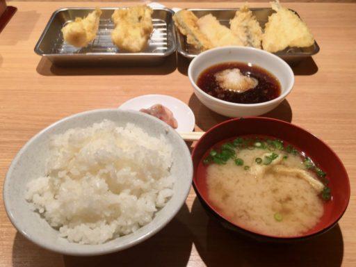 天麩羅ひらおの天ぷら定食