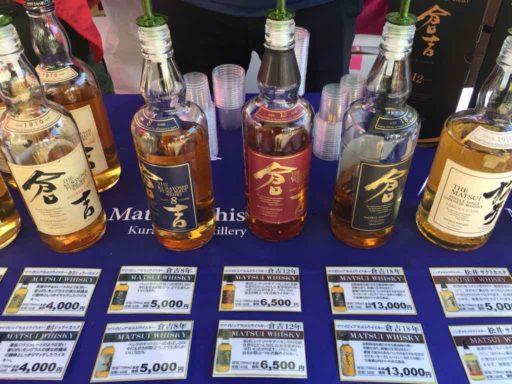 フィリピン・クリスマス・フェスティバル2019の倉吉市産ウイスキー