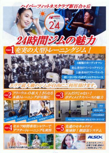 ハイパーフィットネス新百合ヶ丘 24時間ジム化のポスター