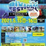 今年のダイビングフェスティバルは海で開催